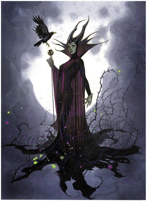 "Not Invited by Adam Hughes - Maleficent from ""Sleeping Beauty"""