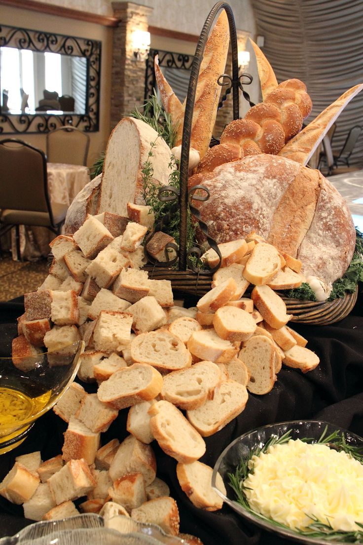 Bread display at the Atlantis Ballroom - http://www.atlantisballroom.com/