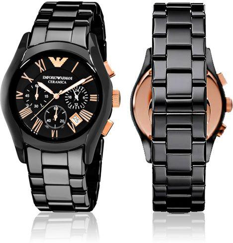 Наручные мужские часы ARMANI ceramica (механика) + подарочная коробка