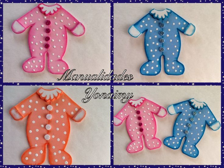 MANUALIDADES YONAIMY: MAMELUCOS COMPLETOS PARA BABY SHOWER ...