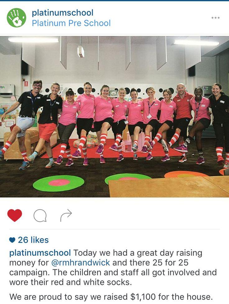 Platinum Preschool raised $1,100 for our Show Your Stripes campaign