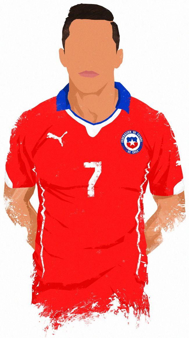 World Cup 2014 Stars - Sanchez. My illustration collection.