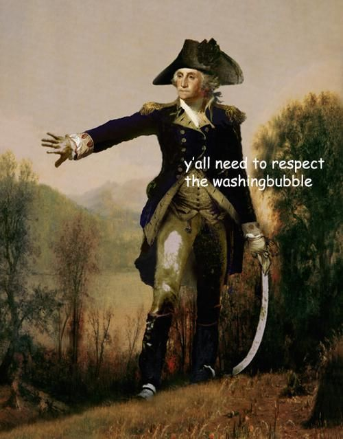 Captions on Paintings of George Washington