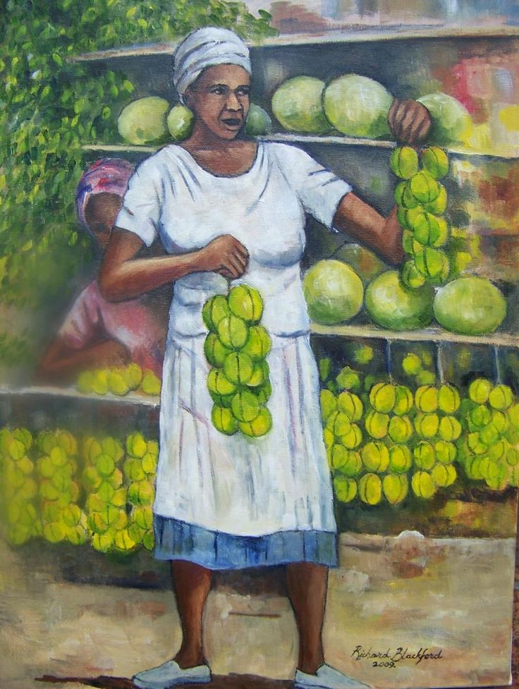 paintings of black jamaican women