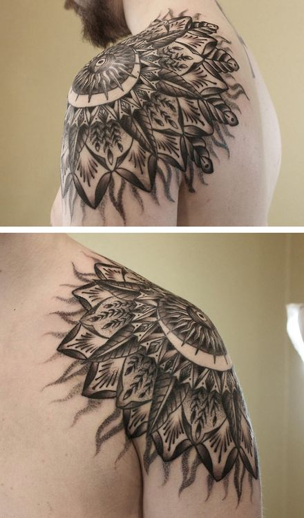 fuckyeahblackwork:  Done by Baylen Levore Asheville, NC Freaks N' Geeks Tattoo Sideshow BaylenLevore@gmail.com