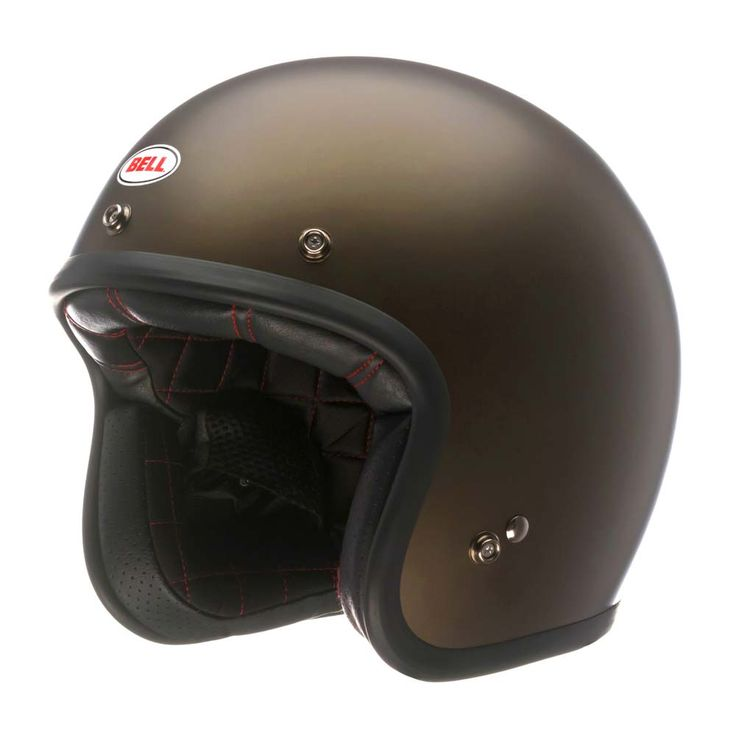 Full Face Cruiser Helmets >> Bell Custom 500 Helmet - Matt Brown Metallic | Open Face ...