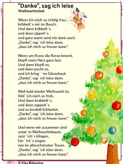 """""""Danke"""", sag ich leise. Weihnachtslied"""