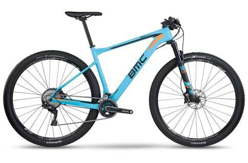 #BMC Teamelite TE02 SLX 2017 Mountain Bike > #Power up climbs, carve through tricky descents and sprint to the finish line. This is what cross-country racing is all about. Riding hard and riding fast, first up, then down every trail. The Teamelite 02 delivers the high-performance characteristics of a traditional hardtail: lightweight, efficient, and nimble in the tight stuff. With fast-rolling 29er wheels and Big Wheel Concept geometry, 142 rear thru-axle and internal cable routing for shift…