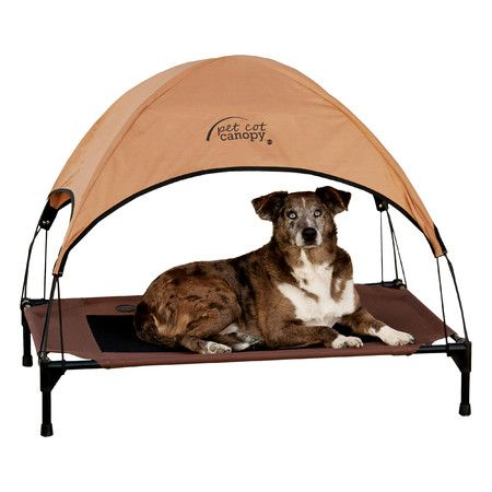 Features:  -Shades pets from harsh sun.  -Includes canopy only.  -Light and portable.  -Easy to install - no tools required.  -Will not collect water or debris.  -One year limited warranty.  Outdoor S