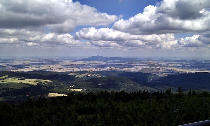 Góry Sowie - Widok na Ślężę