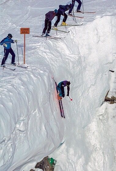 Off-Piste Skiing #Corbet's Couloir, Jackson Hole, Wyoming #skiing www.avacationrental4me.com