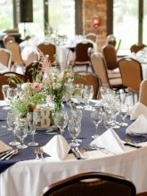 Navy Square Table Runners