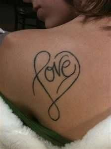 love heart tatt
