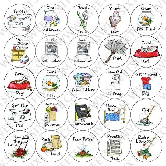 15 Pack Chore Magnets