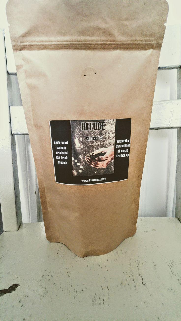refuge dark sumatra coffee supporting human trafficking abolition