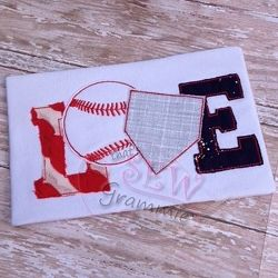 Baseball Love Applique - 5 Sizes! | What's New | Machine Embroidery Designs | SWAKembroidery.com that's SEW Grammie!