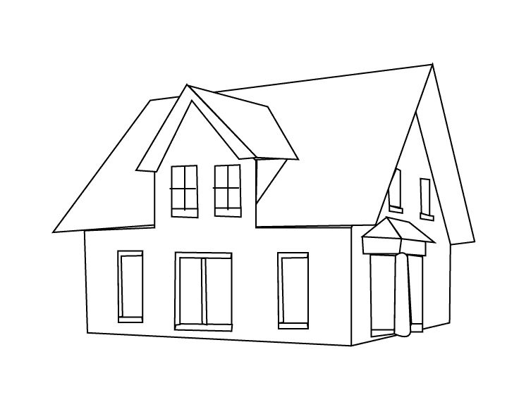 amazing house coloring pages