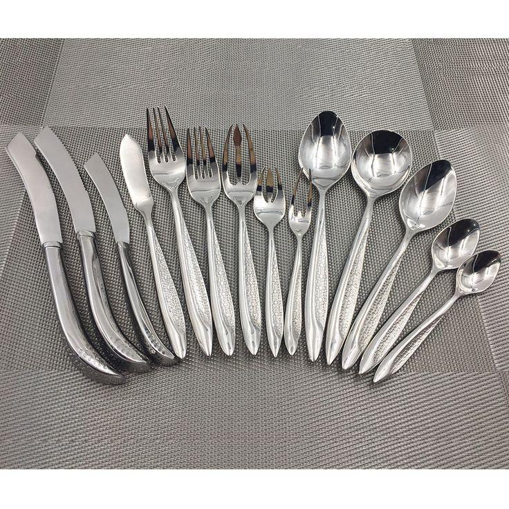 Super 18/10 Quality Stainless Steel Tableware Cutlery Sets Western Kitchen Utensils Dinnerware Fish Knife Fork