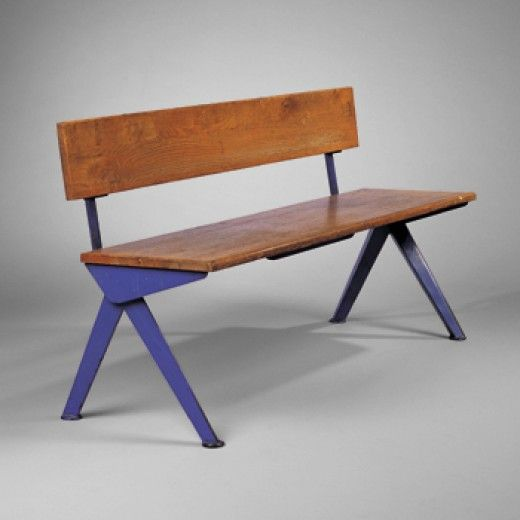 Bench by Jean Prouve, France, 1954.