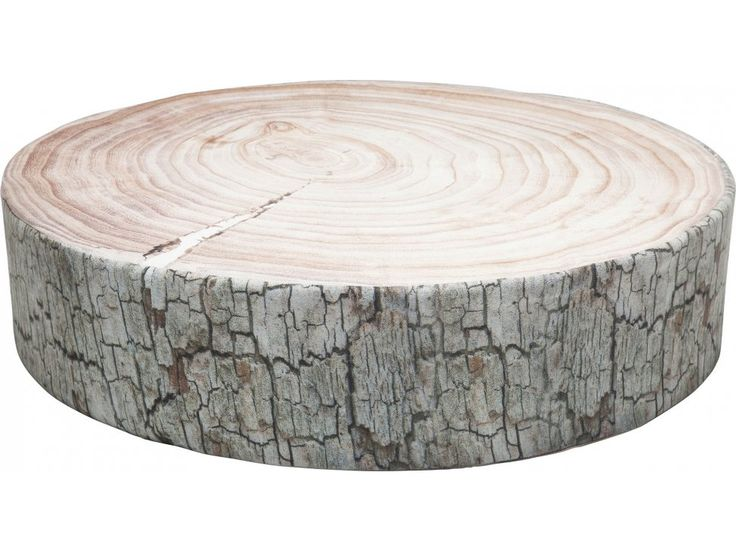Poduszka Podłogowa Tree Ring brązowo-biała — Poduszki — KARE® Design