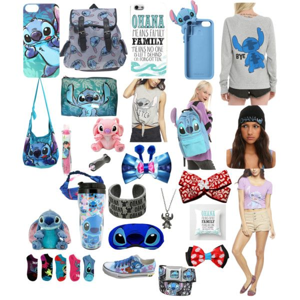 LILO and Stitch by bluehorizons on Polyvore featuring polyvore, moda, style, Wet Seal, Disney, INC International Concepts, fashion and clothing