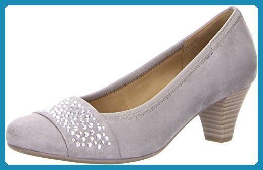Gabor Fashion Damenschuhe 45.482.10 Damen Pumps Leder (Wildleder) Grau (grau), EU 40.5 - Damen pumps (*Partner-Link)