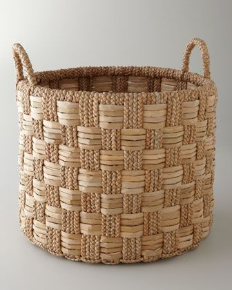Seagrass Basket with Check Pattern at Horchow.