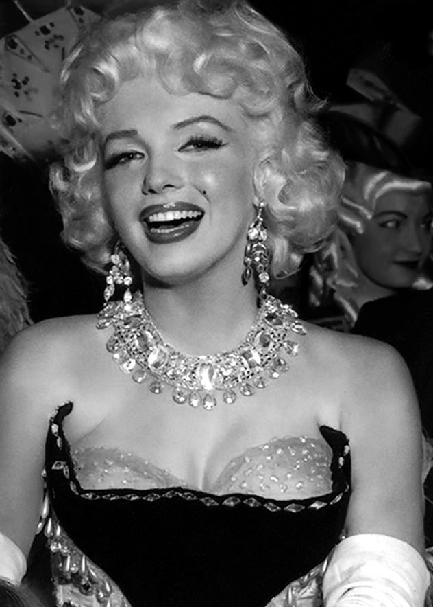 Marilyn Monroe photographed at a circus charity event for Stop Arthritis, 1955
