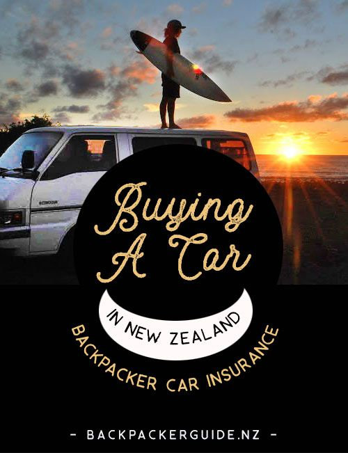 Car and campervan insurance for backpackers in New Zealand.  The final part of our buying a car in New Zealand guide is dedicated to getting backpackers car insurance for your recently bought car or campervan. While vehicle insurance is not mandatory in New Zealand, it is still a part of the car-buying process that many backpackers want to include.