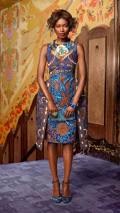 MADE OF HONOUR | A sculptured silhouette with hand-crafted embroidery and embellishments | #vlisco #wedding