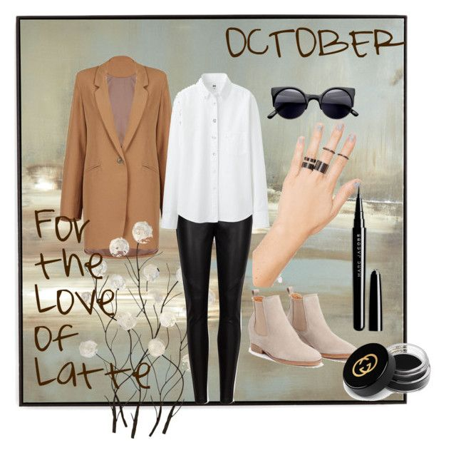 """""""October"""" by magazineboy on Polyvore featuring Benson-Cobb Studios, Universal Lighting and Decor, Ted Baker, Uniqlo, NOVA, Marc Jacobs and Gucci"""
