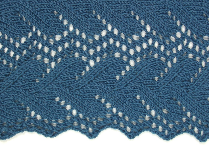Double Leaf Edging is perfect for shawls and scarves.  It is a match to It can be found in the Edging Stitches category.
