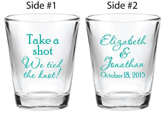 NEW 144 Personalized 1.5oz Wedding Favors Glass Shot by Factory21