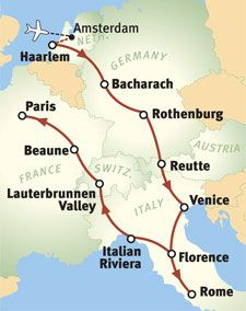 Rick Steves' suggested itinerary for the best three weeks in Europe!
