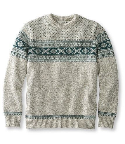 Men's Heritage Sweater, Norwegian Crewneck Pattern | Now on sale at L.L.Bean