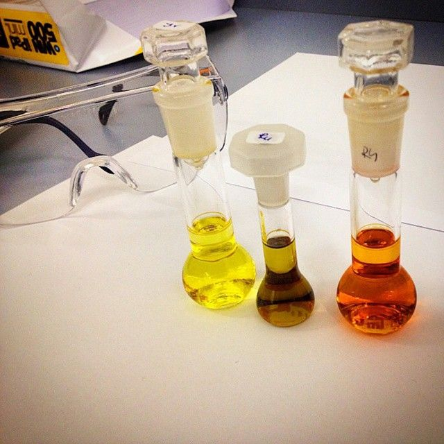 Iridium, ruthenium and rhodium complexes just before measurment in such nice colors. (Martina)  http://instagram.com/p/vIhfM6tN3I/?modal=true