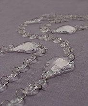 Acrylic Crystal Garland With Maple Leaf Prisms