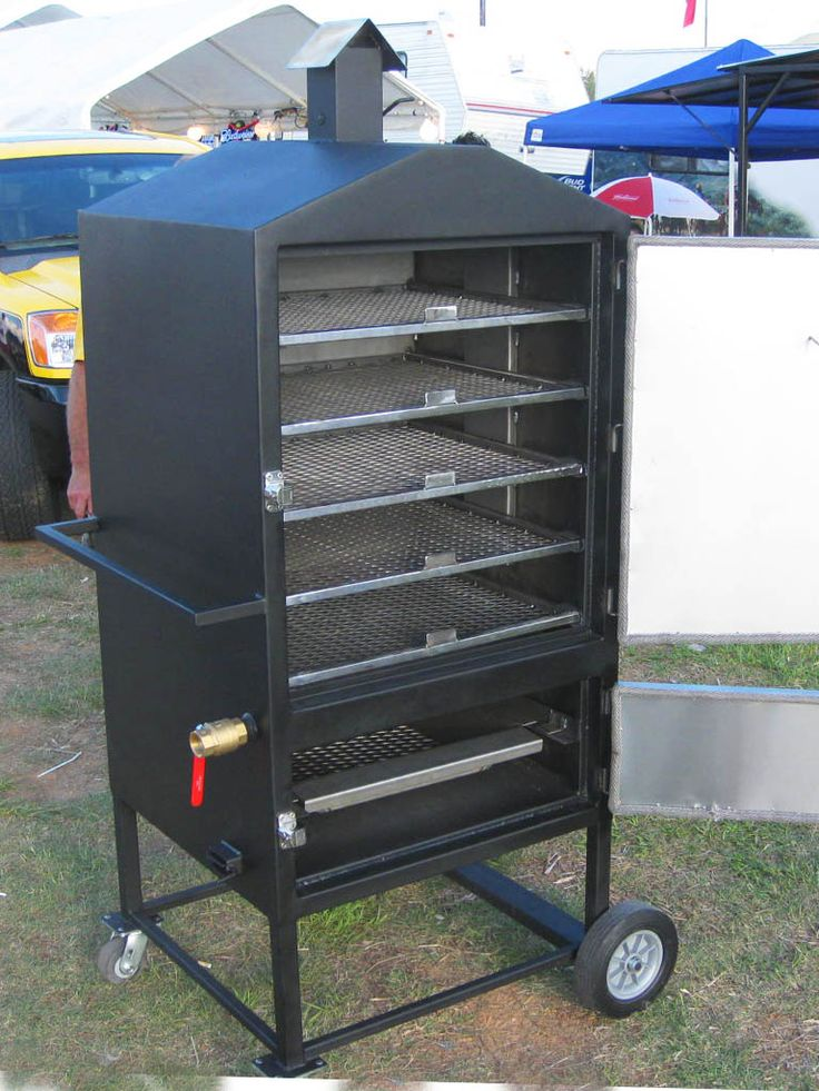 build electric smoker like this outdoor kitchen build pinterest smokers and electric. Black Bedroom Furniture Sets. Home Design Ideas