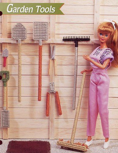 Garden Tools for Barbie Doll Annie's New Plastic Canvas Pattern 30 Days to Pay | eBay