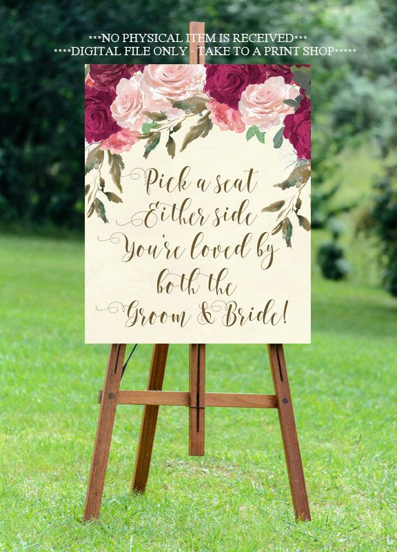 The 25 best pick a seat ideas on pinterest ceremony signs pick a seat wedding sign pick a seat not a side sign ivory wedding junglespirit