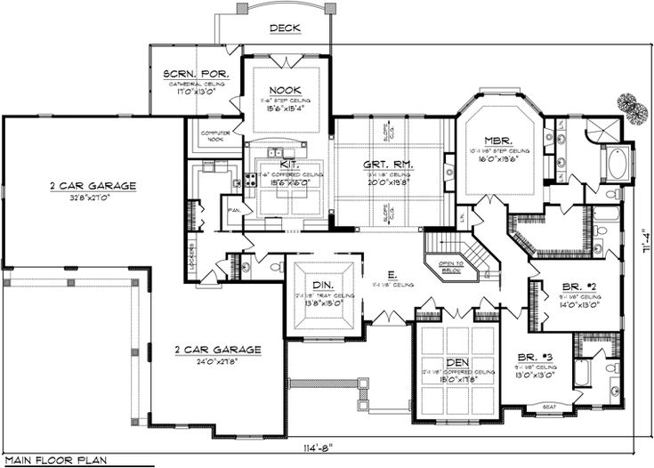 182 Best House Plans Images On Pinterest | Dream House Plans