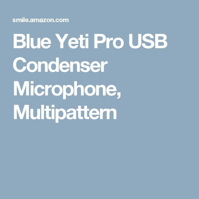 Blue Yeti Pro USB Condenser Microphone, Multipattern