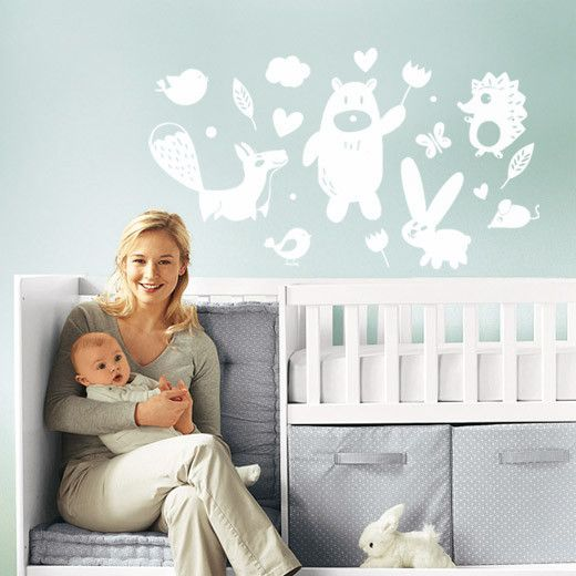 Forest animal Wall Decal to turn your little one's room into a magical forest!