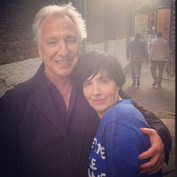 "Alan Rickman and Sharleen Spiteri, the lead Singer of ""Texas"".  Now, Texas celebrate their 25th anniversary with new album ""Texas 25"".The first single ""Start a family"" will come with a cinematic video starring.. again Alan Rickman   Photo source: crouch_jr"