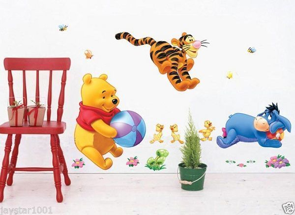 Reusable Winnie The Pooh And Tigger Decal Nursery Wall Stickers