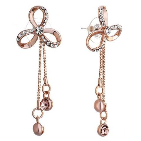 Bowknot Dangle Earrings  $24.99 in our store!  www.gemsoffaith.ca