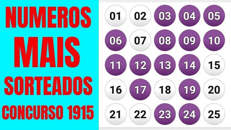 Numeros Mais Sorteados Na Lotofacil No Concurso 1915 Sorteio E