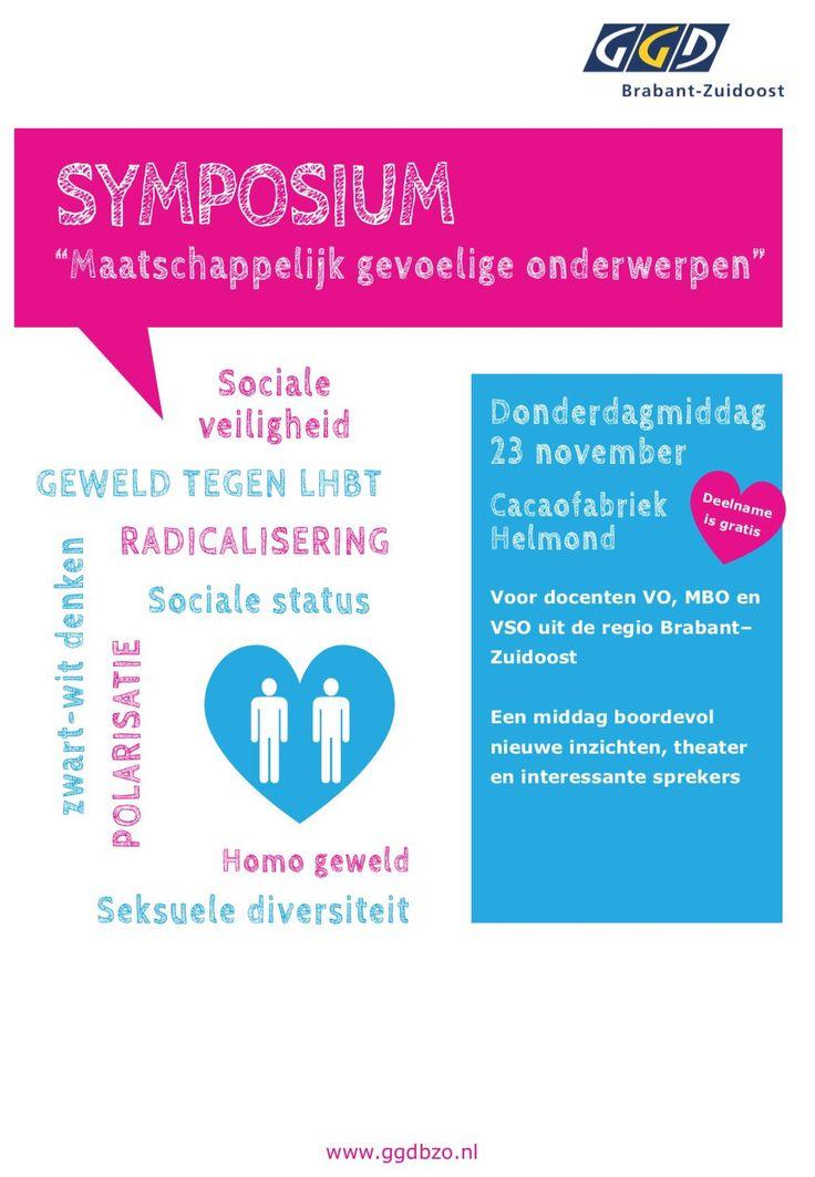 """Kom ook naar het Symposium """"Maatschappelijk gevoelige onderwerpen"""" Donderdag 23 november in  @DeCacaofabriek #Helmond"""