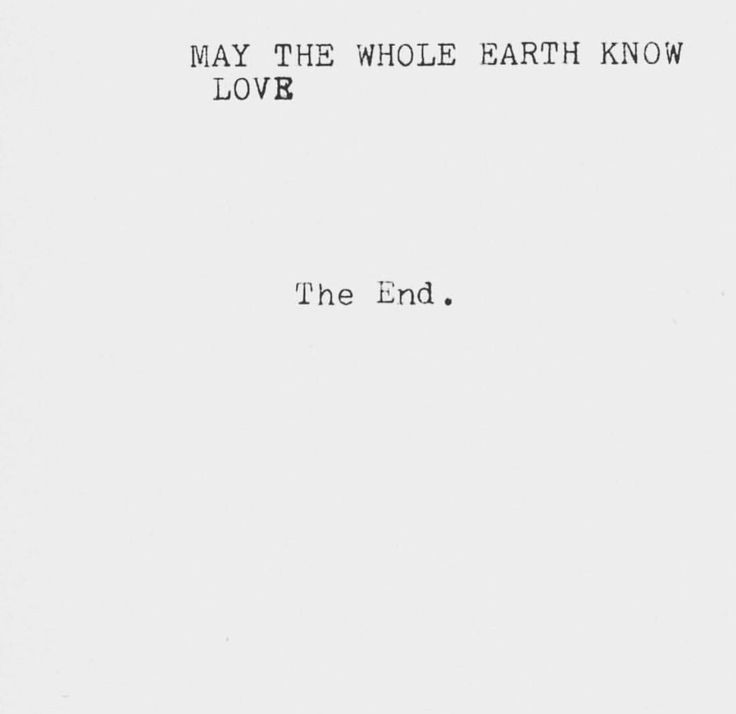 the end // quotes