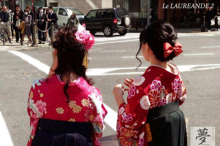 Ready to graduate 2  #japan #kimono #tokyo #girls